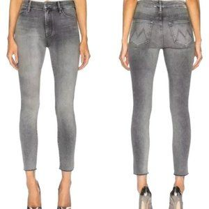 27 Mother Looker Ankle Fray Gray Huntress Jeans